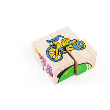 Кубики «Сложи рисунок: Игрушки»