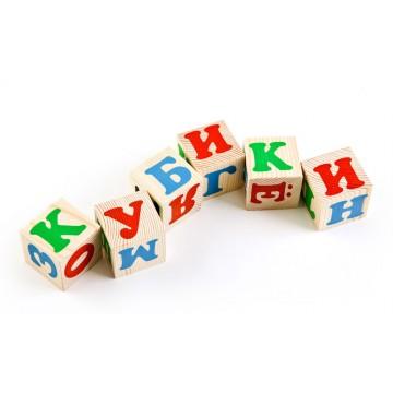 Деревянный кубики. Русский алфавит. Томик.