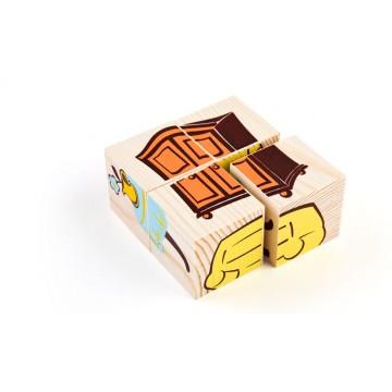 Кубики «Сложи рисунок: мебель»