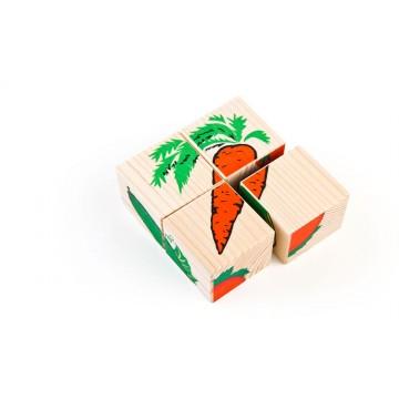 Кубики «Сложи рисунок: Овощи»