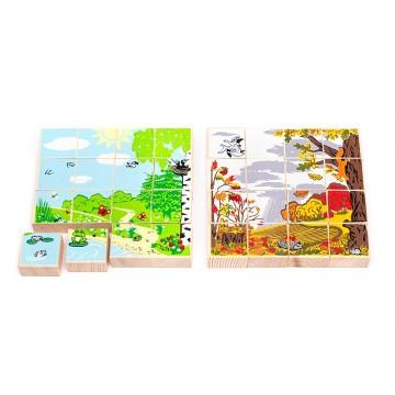 Деревянные пазлы «Времена года» - Лето/Осень