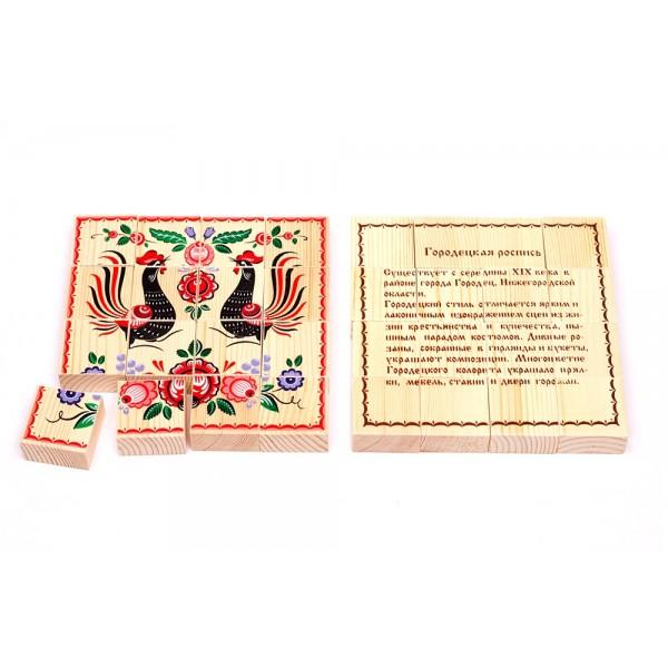 Деревянные пазлы «Русские узоры» - Городецкая роспись