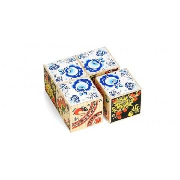 Сувенирные кубики «Русские узоры»