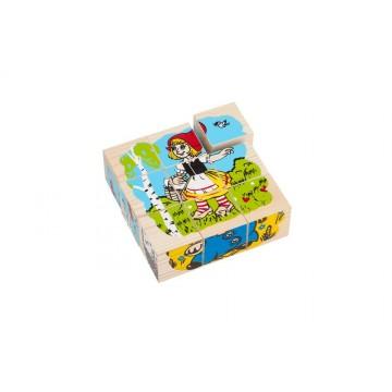 Кубики «Сложи рисунок: Герои сказок»