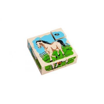 Кубики «Сложи рисунок: Домашние животные»