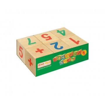 Кубики «Весёлый счёт» - 6 шт