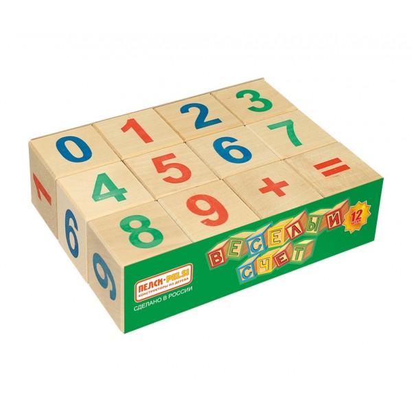 Кубики «Весёлый счёт» - 12 шт