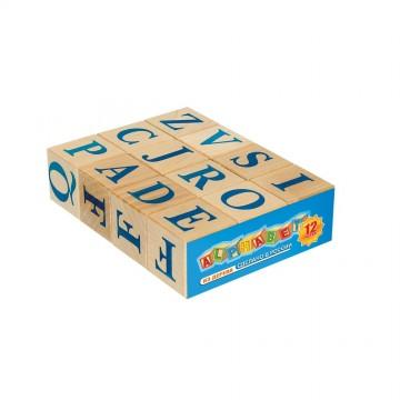 Кубики «Алфавит английский» - 12 шт