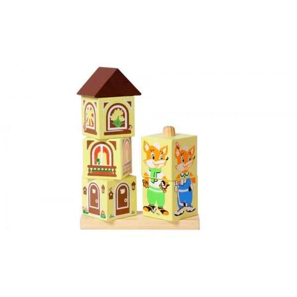 Кубики на палочке «Лисенок»