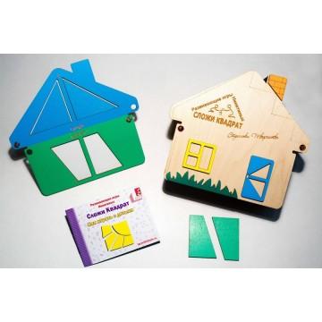 Сложи квадрат (полный комплект) - Дом (36 квадратов)