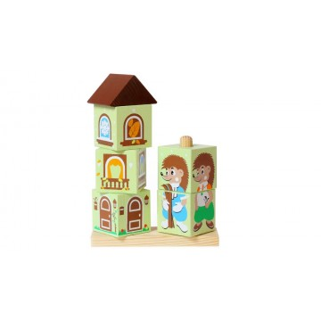 Кубики на палочке «Ёжик»