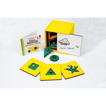 Рамки и вкладыши Монтессори (цветная коробка)