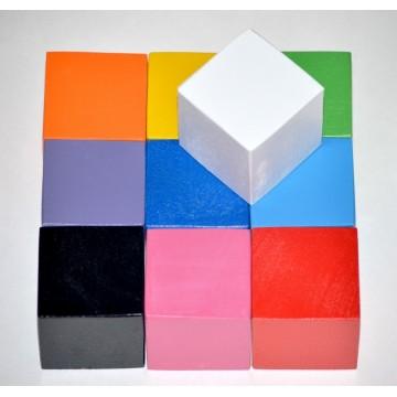 Цветные деревянные кубики (4 см)
