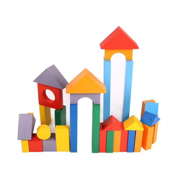 Конструктор геометрический «Построй свой город» 51 (окрашенный)