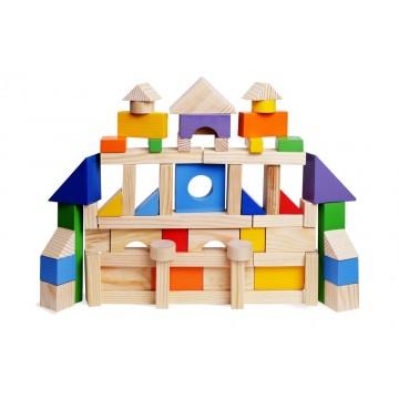 Конструктор геометрический «Построй свой город» 85 (окрашено 20 деталей)