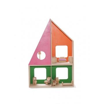 Кукольный домик-геометрик (без мебели)
