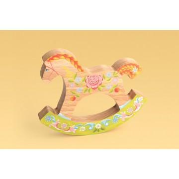 Коник-качалка «В цветах»