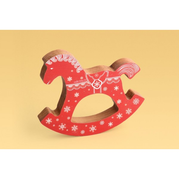 Коник-качалка красный «Рождественский»