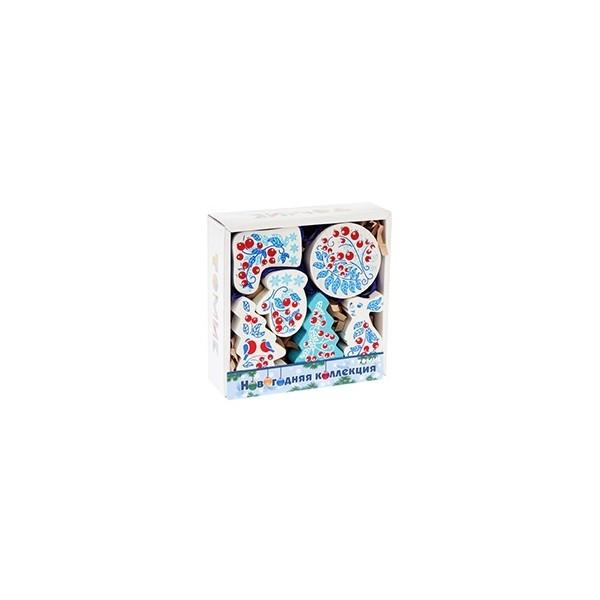 Набор ёлочных игрушек «Зимняя ягода»