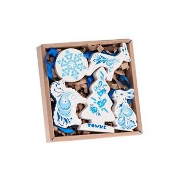 Набор ёлочных игрушек «Зимние узоры»